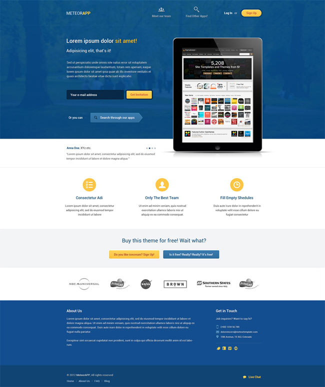 40 best free landing page psd templates designmaz An website