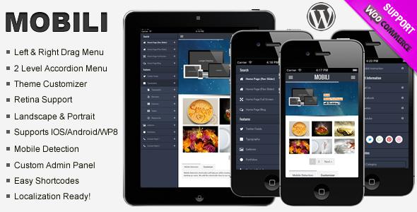Mobili Premium WooCommerce Mobile Theme