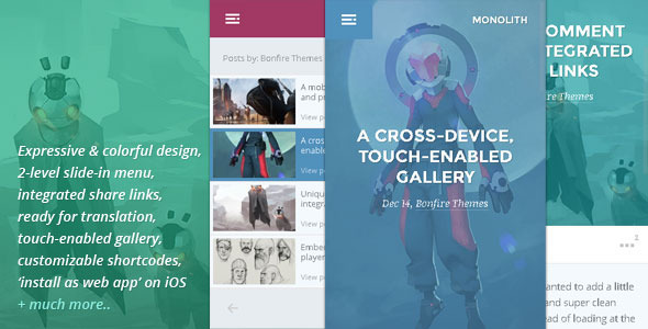 Monolith - WP theme for bloggers and professionals