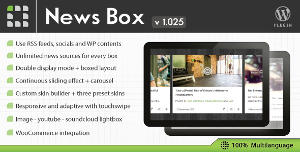 News Box - WordPress Contents Slider and Viewer