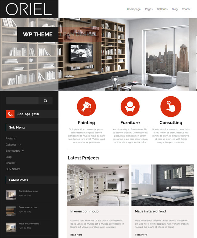 20 best interior design wordpress themes 2016 designmaz for Interior design wordpress theme