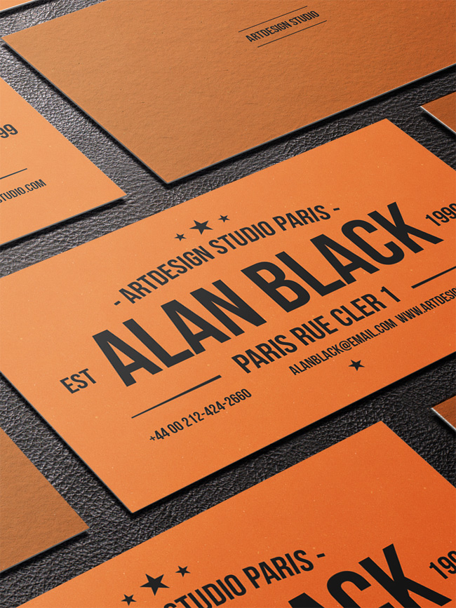 Orange-Black-Business-Card-Template