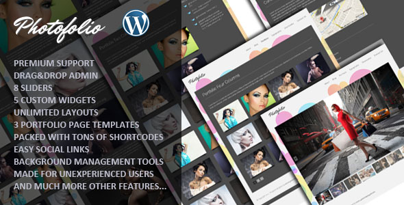 Photofolio Photography WordPress theme
