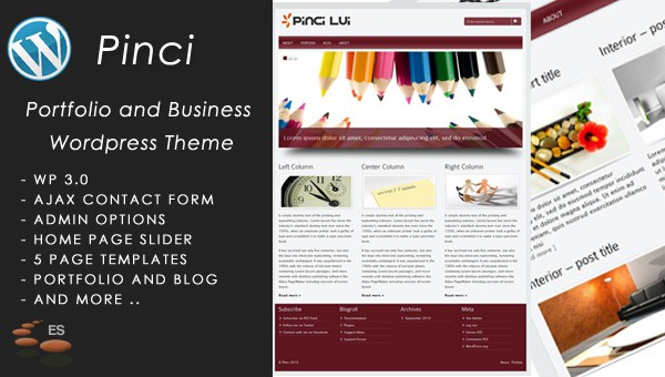 Pinci Portfolio and Business – WordPress Theme