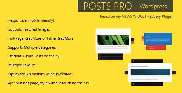 Posts Pro - WordPress Plugin