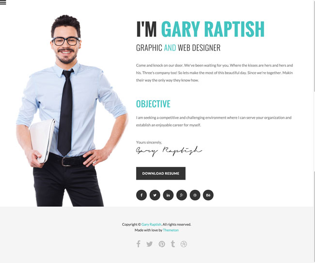 Raptish-Premium-vCard-Resume-HTML-Template