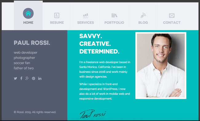 Resume website template minimal html resume with free download best best resume cv html templates for personal business card fbccfo