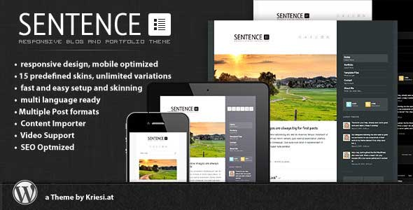 Sentence-is-a-responsive-Blog-and-Portfolio-Theme