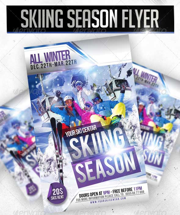 Skiing-Season-Flyer-Template