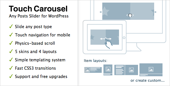 TouchCarousel - Posts Content Slider for WordPress