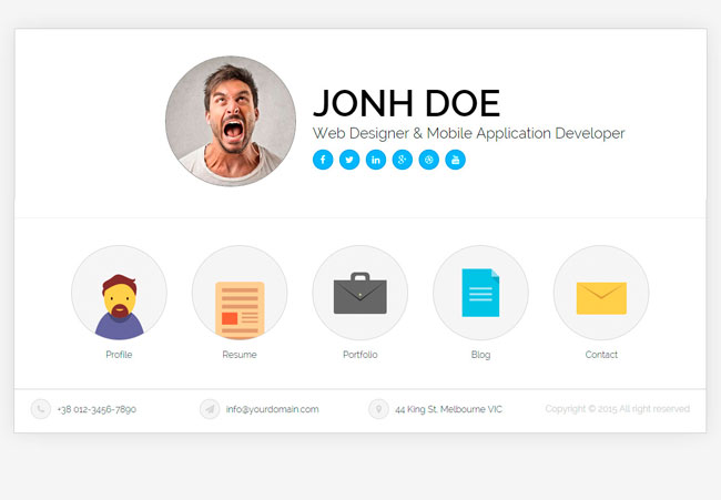 Resume Website Template clean psd portfolio template Ukiecard Personal Vcard Resume Html Template