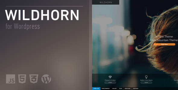 Wildhorn - Full Screen, Responsive & Retina