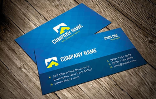 blue-vector-business-card-template