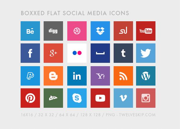 boxxed-flat-social-media-icons