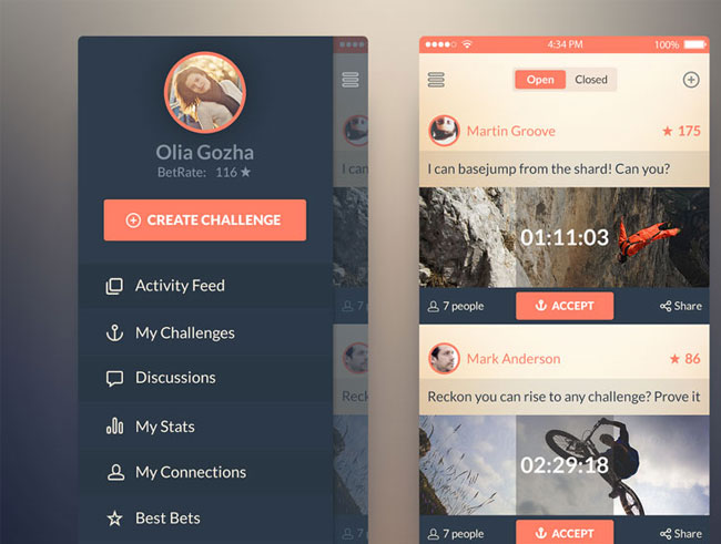Challenge App Psd For Ios 7 Free Download