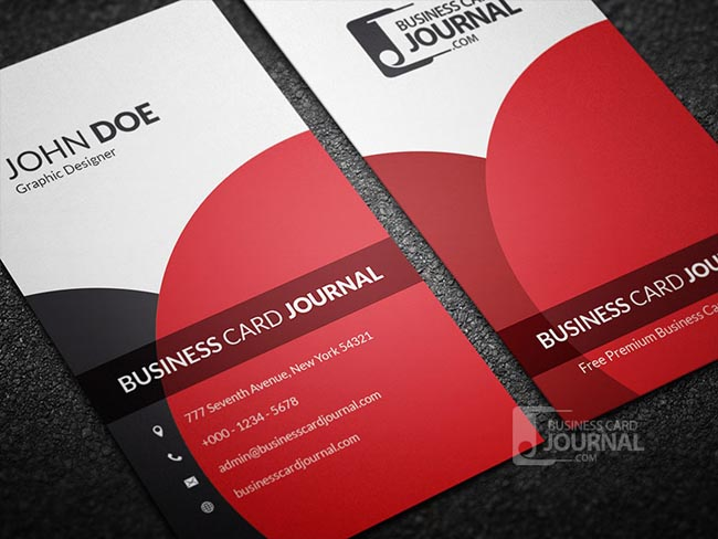 55 free creative business card templates designmaz classy elegant vertical business card template flashek Gallery