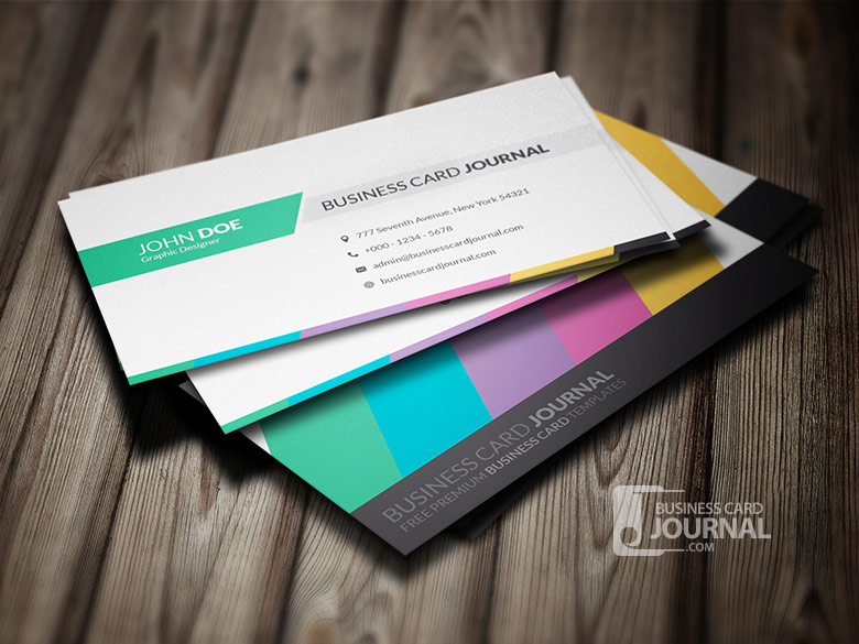 55 free creative business card templates designmaz clean creative multicolor business card template accmission Images