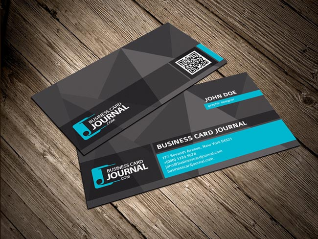 55 free creative business card templates designmaz cool unique business card template with qr code accmission Image collections