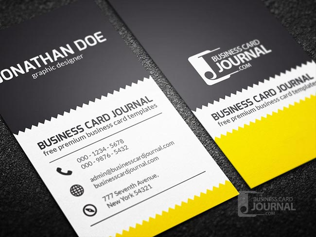 creative-zigzag-design-business-card-template