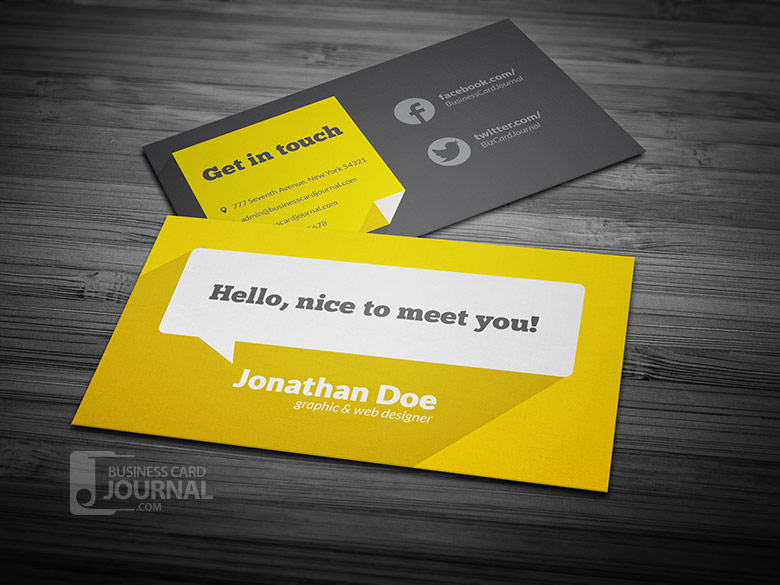 55 free creative business card templates designmaz flat design business card template with long shadow wajeb Choice Image