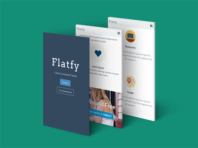 Flatfy – Clean Minimal HTML One Page Template