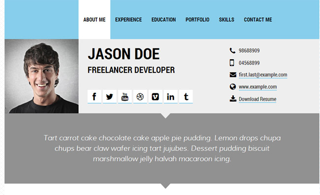 personal resume site examples – Resume Website Example