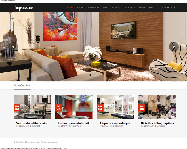 Impressive Interior Responsive WordPress Theme