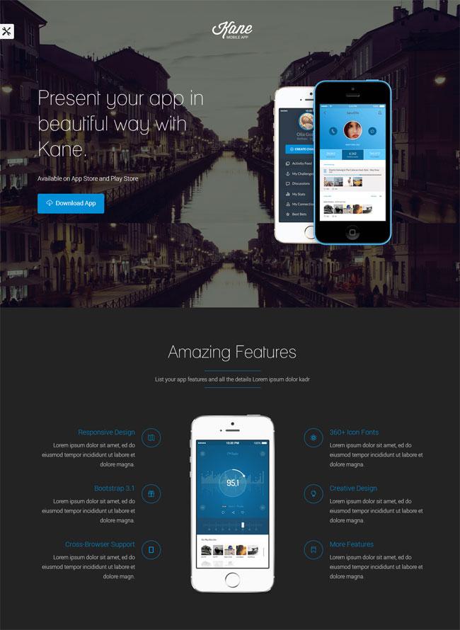 kane-responsive-bootstrap-3-app-landing-page