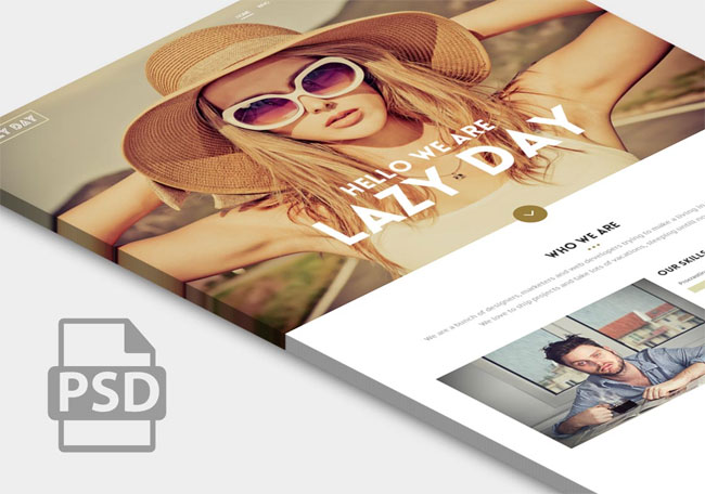 lazy-day-free-psd-one-page-template