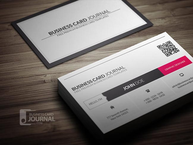 metro-style-business-card-template-with-qr-code