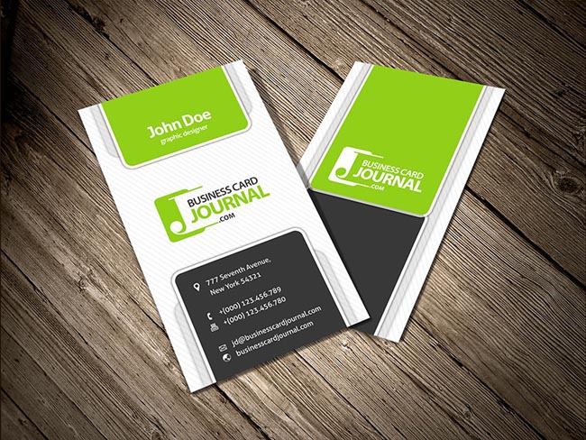 55 free creative business card templates designmaz modern creative vertical business card template accmission Gallery
