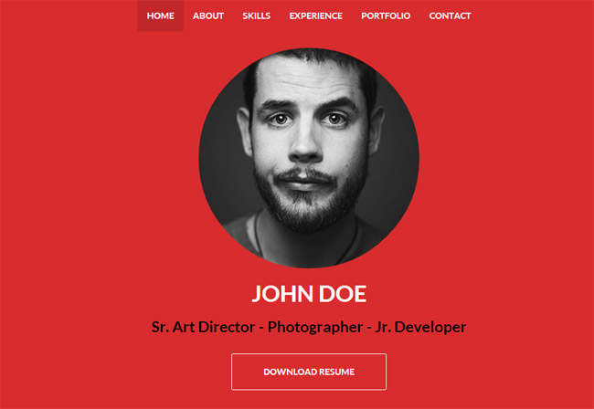 Best Resume CV HTML Templates For Personal Business Card - Free responsive personal website templates