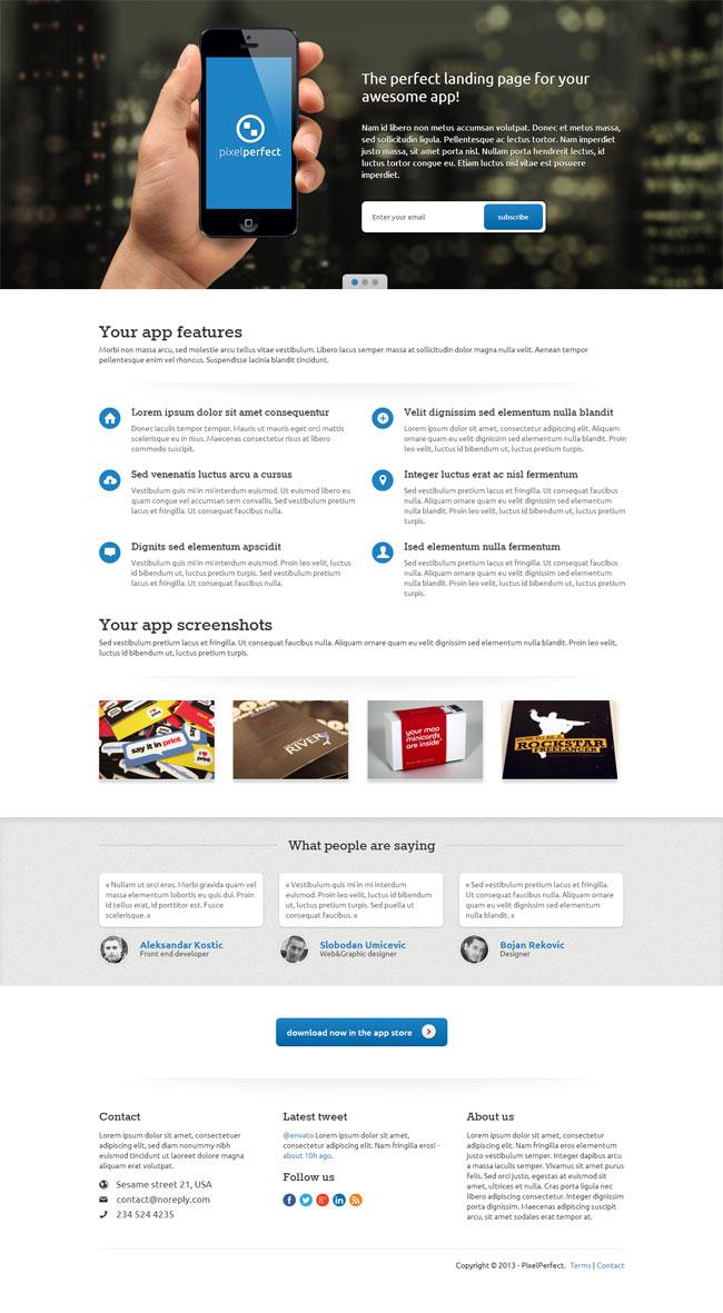 pixelperfect-responsive-landing-page
