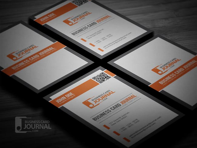 55 free creative business card templates designmaz professional qr code business card template flashek Images