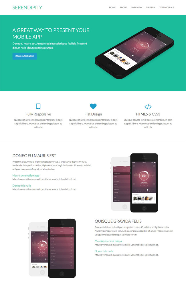 serendipity-responsive-app-landing-page
