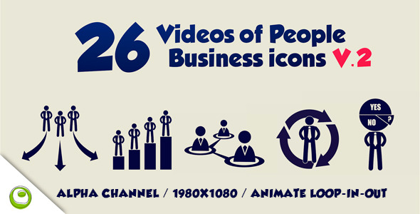 26 Videos Of People Business Icons V.2