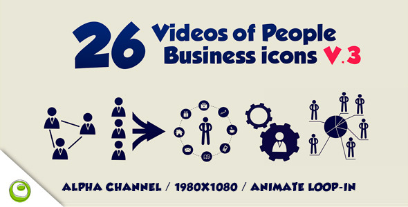 26 Videos Of People Business Icons V.3