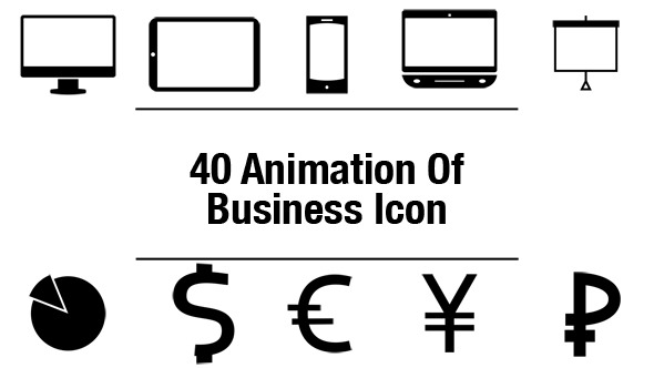 40 Animation Of Business Icons