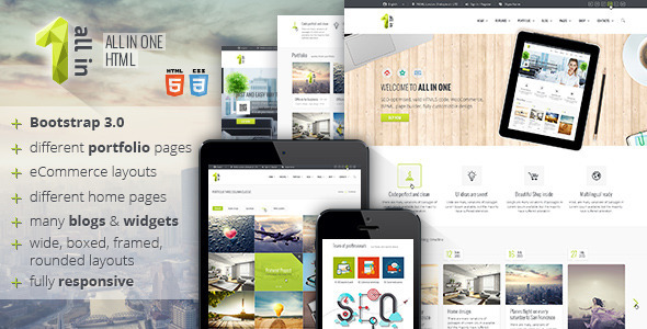 All In One - All Inclusive HTML5 Template