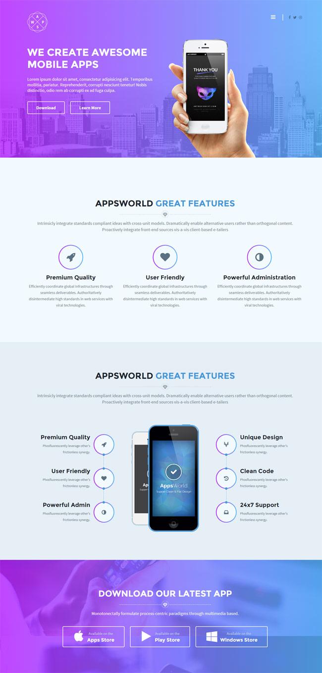 AppsWorld-Responsive-App-Landing-Page-Theme