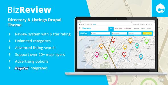 BizReview - Directory Listing Drupal Theme