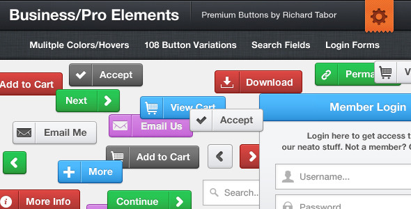 Business Pro CSS3 Buttons & Elements