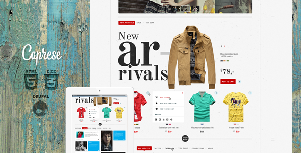 Caprese - Drupal Commerce Theme