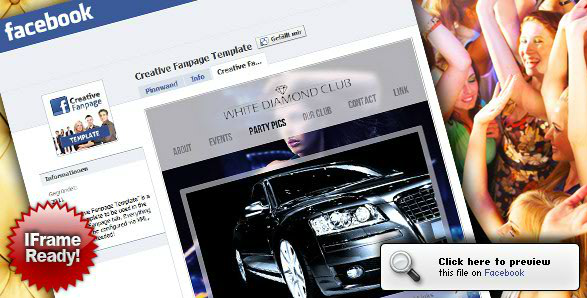 Creative Facebook Fanpage Template