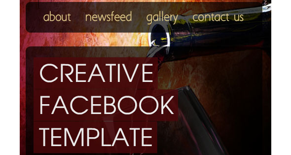 Creative facebook page template