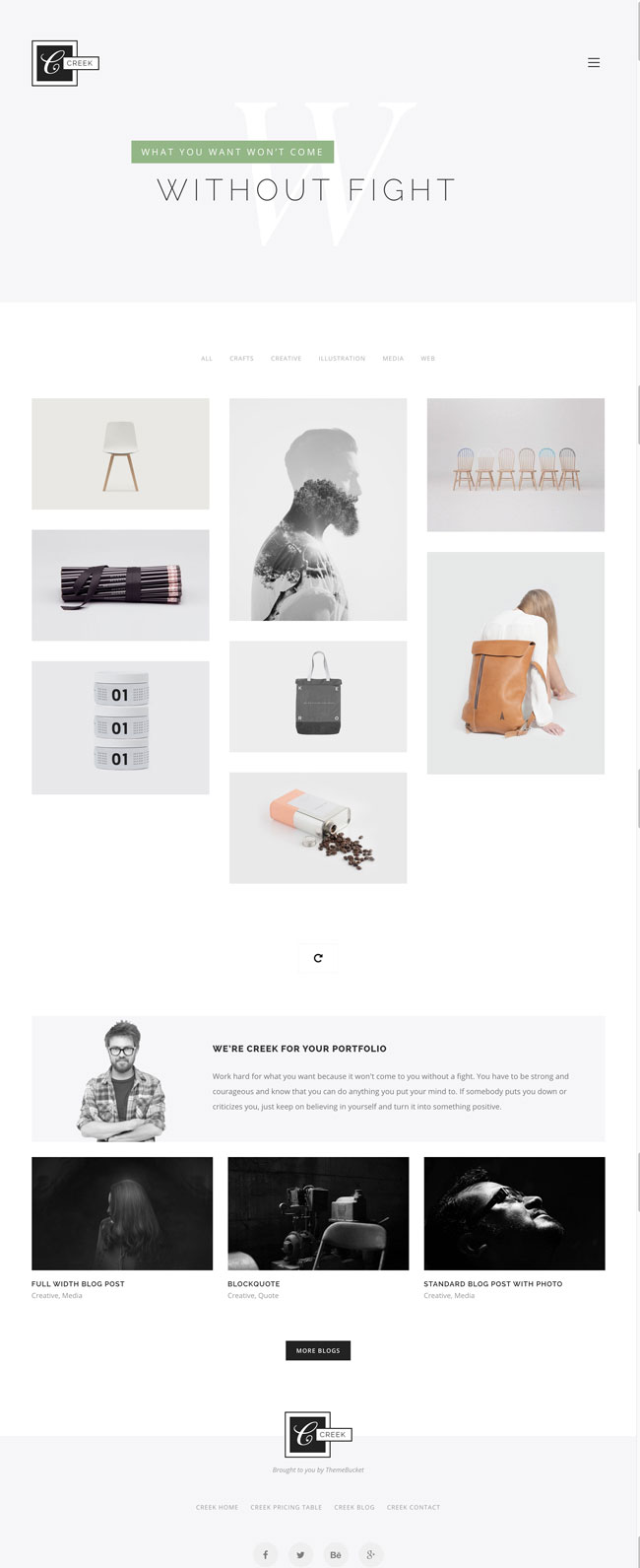 Creek-Creative-And-Minimal-WordPress-Portfolio