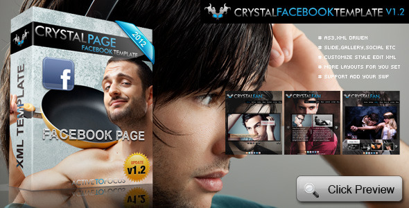 Crystal Facebook Fan Page Template