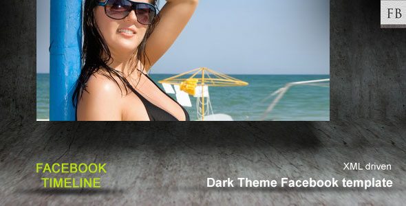 Dark Facebook Theme template