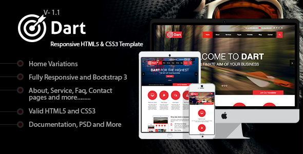 Dart - Responsive HTML5 Business Template