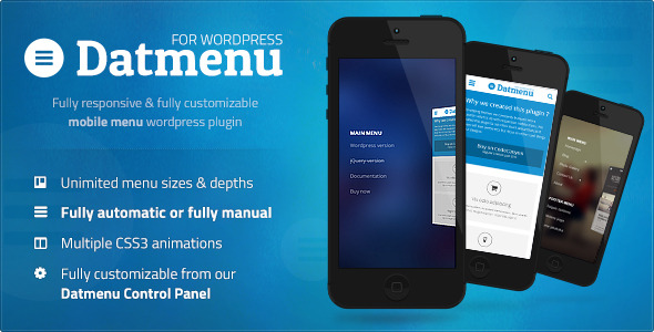 Datmenu - Responsive Menu Plugin for WordPress